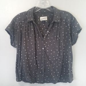 Universal Thread Boxy Fit Top Blouse Polka Dot